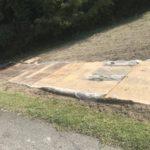 豪雨の後の復旧工事
