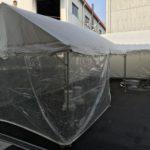 テントの防風シート、冬場のイベントには必需品です。