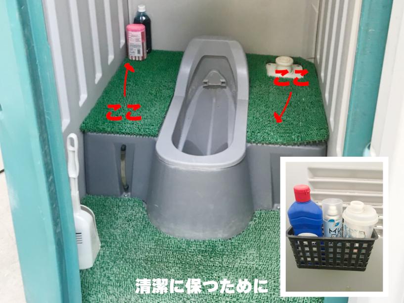 仮設トイレ衛生